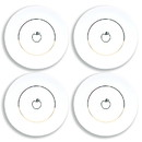 Seven20 Disney Snow White Apple 4 Piece Porcelain Dinner Plate Set
