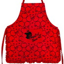 Seven20 UGT-DY11927-C Disney Snow White Apple Print Red Ruffled Adult Kitchen Apron