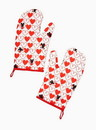 Seven20 UGT-DY12562-C Disney Mickey Mouse Red Heard Series 2 Pack Oven Mitt