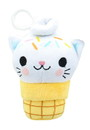 Se7en20 Kitty Cone Clip Yummy Sprinkles 5 inch Plush Backpack Clip