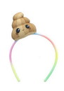 Se7en20 Glitter Galaxy Plush Brown Poop Emoji Child Costume Headband