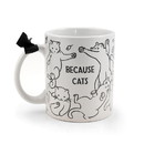 Se7en20 Because Cats Coffee Mug - Ceramic Coffee Cup Cat Owners - Holds 11 Ounces
