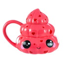 Se7en20 Glitter Galaxy Pink Poop Emoji 20oz Ceramic Mug w/ Lid