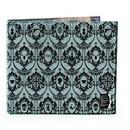 Se7en20 Sherlock Holmes Men's Bi-Fold Wallet: 221B Wallpaper (Grey)
