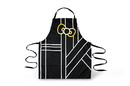 Seven20 Hello Kitty Pinache Black and Gold Adult Kitchen Apron