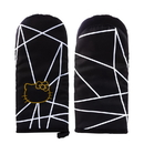 Seven20 UGT-SO11564-C Hello Kitty Geo Glam Pinache Black and Gold Oven Mitt