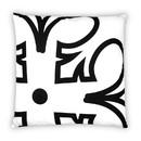 Seven20 Star Wars Black Rebel Symbol 25 x 25 Inch White Square Outdoor Pillow