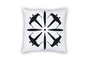 Se7en20 Star Wars Black X-Wing Fighter 18 x 18 Inch White Square Outdoor Pillow
