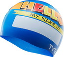 TYR LCSJRHLO Hello My Name Is Junior Swim Cap
