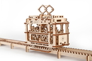 Ugears 4820184120198 Tram with rails Mechanical 3D Model