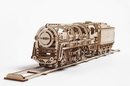Ugears 4820184120235 460 Steam Locomotive with tender Mechanical 3D Model