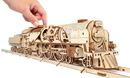 Ugears 4820184120853 V-Express Steam Train with Tender Mechanical 3D Model