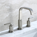Luxier WSP03-T Widespread Bathroom Lavatory Vanity Sink Faucet, Brushed Nickel
