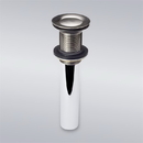 Luxier DS03-TB Pop Up Drain Stopper Without Overflow, Brushed Nickel