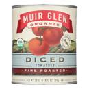 Muir Glen Organic Diced Fire Roasted Tomato - Tomato - Case of 12 - 28 oz.