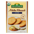 Devonsheer Organic Plain Melba Rounds - Case of 6 - 5.25 oz.