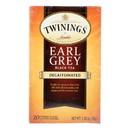 Twining's Tea Earl Grey Tea - Decaffeinated - Case of 6 - 20 bags
