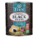 Eden Foods Black Beans Canned - Case of 6 - 108 oz.