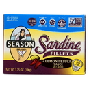 Season Brand Sardine Fillets in Lemon Pepper Sauce - Salt Added - Case of 12 - 3.75 oz.