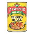 La Preferida Organic Authentic Refried Beans - Case of 12 - 15 oz