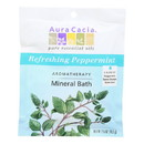 Aura Cacia - Aromatherapy Mineral Bath Peppermint Harvest - 2.5 oz - Case of 6