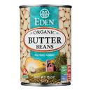 Eden Foods Butter Beans Organic - Case of 12 - 15 oz.