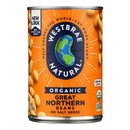 Westbrae Foods Organic Great Northern Beans - Case of 12 - 15 oz.