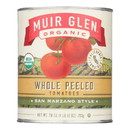 Muir Glen Peeled Whole Plum Tomatoes - Tomatoes - Case of 12 - 28 oz.