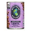 Westbrae Foods Organic Lentils Beans - 15 oz.