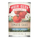 Muir Glen Tomato Sauce, No Salt Added, - Tomato - Case of 12 - 15 Fl oz.