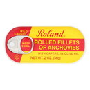 Roland Anchovies Rolled - Olive Oil - Case of 25 - 2 oz.