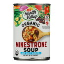 Health Valley Organic Soup - Minestrone, No Salt Added - Case of 12 - 15 oz.