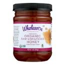 Wholesome Sweeteners Organic Raw Honey - Liquid Sweetener - Case of 6 - 16 oz.