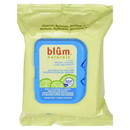 Blum Naturals - Daily Cleansing and Makeup Remover Towelettes for Normal Skin - 30 Towelettes - Case of 3