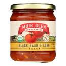 Muir Glen Black Bean Corn Med Salsa - Tomato - Case of 12 - 16 oz.