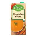 Pacific Natural Foods Vegetable Broth - Organic - Case of 12 - 32 Fl oz.