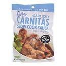 Frontera Foods Garlicky Carnitas Slow Cook Sauce - Garlicky Carnitas - Case of 6 - 8 oz.