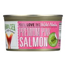 Natural Sea Wild Pink Salmon - Salted - Case of 12 - 7.5 oz.