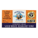 Henry and Lisa's Natural Seafood Solid White Albacore Tuna - Case of 12 - 5 oz.