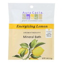 Aura Cacia - Aromatherapy Mineral Bath Energizing Lemon - 2.5 oz - Case of 6