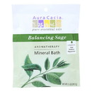 Aura Cacia - Aromatherapy Mineral Bath Balancing Sage - 2.5 oz - Case of 6