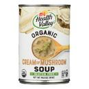 Health Valley Organic Soup - Mushroom, Cream - Case of 12 - 14.5 oz.