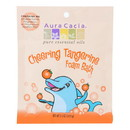 Aura Cacia - Cheering Foam Bath Tangerine and Sweet Orange Essential Oils - Case of 6 - 2.5 oz