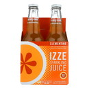 Izze Sparkling Juice - Clementine - Case of 6 - 12 Fl oz.