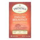 Twining's Tea English Breakfast Tea - Black Tea - Case of 6 - 20 bags
