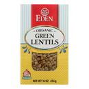 Eden Foods - Beans Green Lentils Dry - Case of 12 - 16 oz