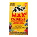 Nature's Way - Alive Max6 Daily Multi-Vitamin - Max Potency - No Iron Added - 90 Veg Capsules