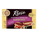 Reese Sardines - Skinless Boneless in Olive Oil - Case of 10 - 4.37 oz