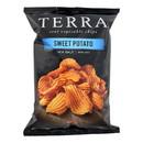 Terra Chips Sweet Potato Chips - Crinkled Sweet Potato with Sea Salt - Case of 12 - 6 oz.