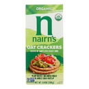 Nairn's Rough Cut Organic Oatcakes - Case of 12 - 8.8 oz.